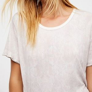 Free People We The Free Print Me Perfect Tee Ivory